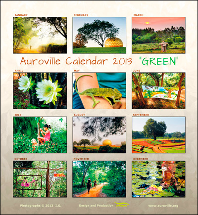 Auroville calendar 2013 backinsider