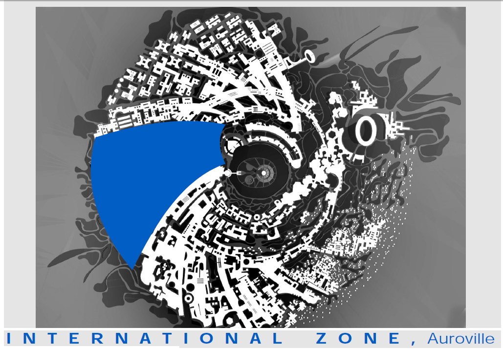 Internationale zone in de Auroville Galaxy